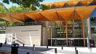 Auckland Art Gallery Toi o Tāmaki - The modern extension completed in 2011.