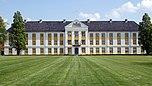 Schloss Augustenburg, die nach Westen gerichtete Gartenfassade
