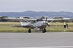Ausjet Aviation Group (VH-FEN) Cessna 206H Stationair parked at Wagga Wagga Airport.jpg