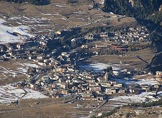 Aussois - Aussois seen from La Norma ski resort.