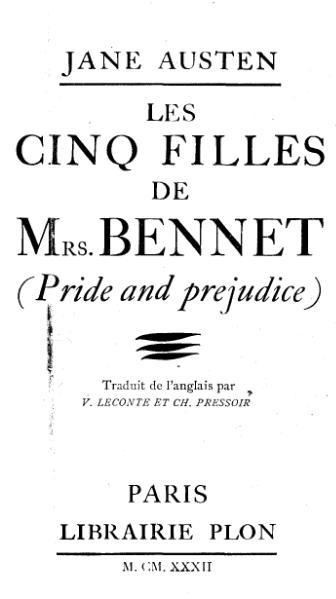 File:Austen - Les Cinq filles de Mrs Bennet.djvu