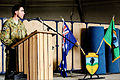 Australian Army Col. Simon Stuart, the outgoing commander of Combined Team Uruzgan, delivers remarks during a transfer of authority ceremony Aug. 7, 2013, at Multinational Base Tarin Kowt in Uruzgan province 130807-O-MD709-054-AU.jpg