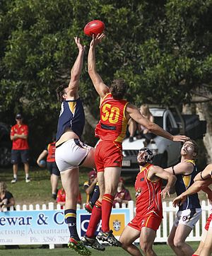 Glossary of Australian rules football - Ruckmen contesting a ball-up
