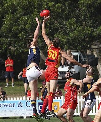 Glossary of Australian rules football - Ruckmen contesting a ball-up