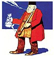 "Azim Azimzade's first caricature in ""Molla Nasreddin"" magazine.jpg"