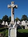 Bélapátfalva Cemetery, Zsasskovszky crucifix (1881), 2016 Hungary.jpg