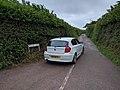 BMW 116d entering Gore Lane from Maer Lane (geograph 5001595).jpg