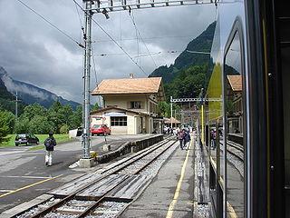 Zweilütschinen railway station