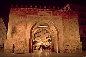 Bab el Bhar - Image: Bab El Bhar vue de nuit