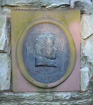 Ferdinand, Landgrave of Hesse-Homburg - Ferdinand on the Landgrafendenkmal monument on the Tannenwaldallee