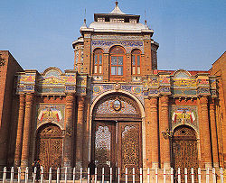 Darvazeh-e-Bagh-e-Melli: The main gates to Iran's Ministry of Foreign Affairs in Tehran.