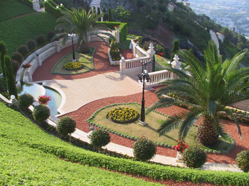File:Bahai Gardens Upper Terrace.jpg