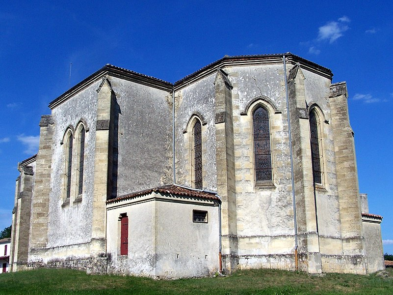 Apse of the church of Balizac (Gironde, France)