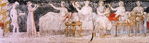 Banquet, tombe d'Agios Athanasios