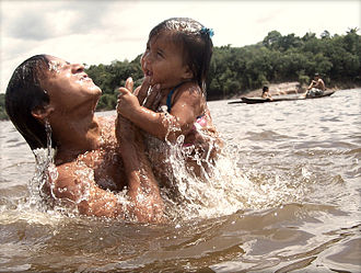 Baré people - Baré people in Cuieiras River