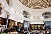 Barack Obama at Parliament of India in New Delhi addressing Joint session of both houses 2010