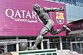 Barcelona. Camp Nou, Futbol Club Barcelona Stadium. Monument to Laszlo Kubala. 2009. Montserrat Garcia Rius, sculptor. (19409584324).jpg