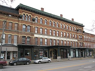 National Register of Historic Places listings in Lewis County, New York - Image: Bateman Hotel Lowville NY Nov 09
