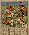 Battle Scene from an early 17th century Shahnama.jpg