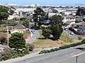 Bayshore Circle from San Bruno station garage, June 2018.JPG