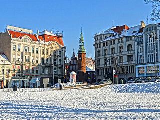 Theatre square in Bydgoszcz