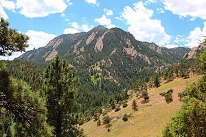 Bear Peak (Boulder County, Colorado) - Bear Peak viewed from the NCAR Trail