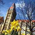 Beautiful Easter morning on the way in to work at @mcrmuseum ... But forecast for thunderstorms by 11am -MMClimateControl (25790343990).jpg