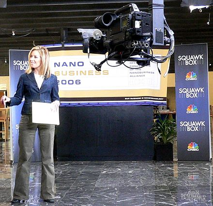 A Squawk Box outside broadcast, hosted by Rebecca Quick Becky Quick 2-1.jpg