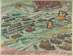 Battle of the Lippe - Relief of Groenlo by Mondragón. Unknown author, 1613.