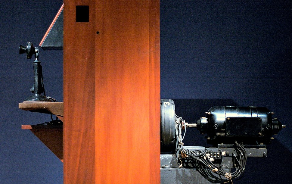 Bell Labs videophone prototype (1927), side view, MoMI