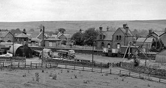 Bellingham, Northumberland - Until 1966 Bellingham had a railway station, seen here in 1962