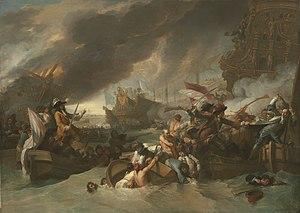 Benjamin West, La battaglia di La Hogue, c.  1778, NGA 45885.jpg