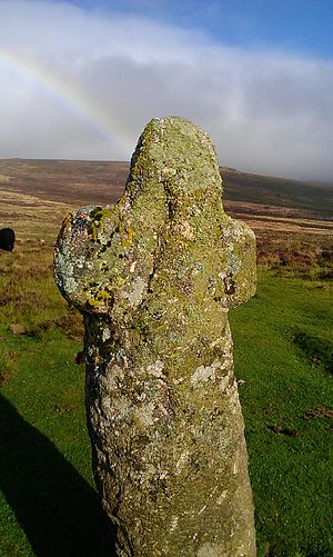 Dartmoor crosses - Detail of Bennett's Cross