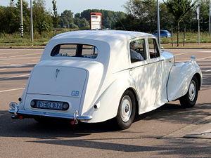 "Bentley Mark VI - Bentley Mark VI ""standard steel"" saloon, rear three quarters"