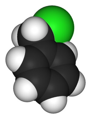 Benzyl chloride - Image: Benzyl chloride 3D vd W