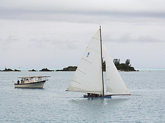Bermuda rig - Image: Bermuda Fitted Dinghy at Mangrove Bay