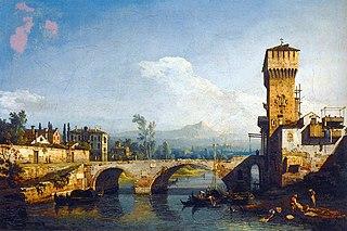 Capriccio with a River and Bridge