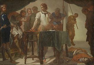 Mucius Scaevola Confronting King Porsenna