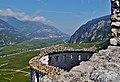 Besenello Blick vom Castel Beseno ins Etschtal 06.jpg