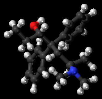 Betamethadol - Image: Betamethadol molecule ball