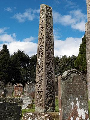 Bewcastle Cross - Bewcastle: the south and east faces of the cross