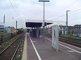 Bahnsteig des Haltepunktes