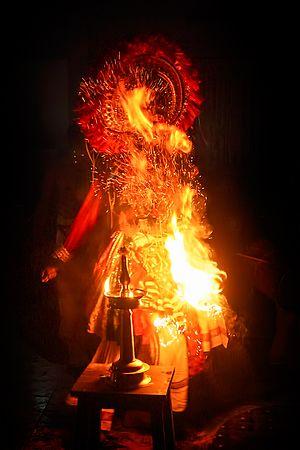 Theeyaattam - A Theeyattu performer