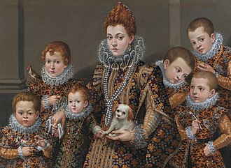 Lavinia Fontana - Bianca degli Utili Maselli and six of her children