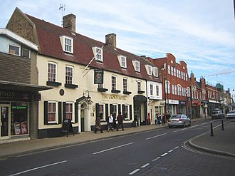 Biggleswade - The Crown Inn, where the 1785 Great Fire started