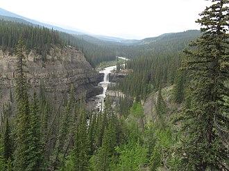 Bighorn River (Alberta) - Bighorn River Valley and Crescent Falls