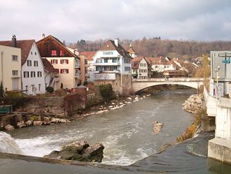 Birs (river) - The Birs in Laufen