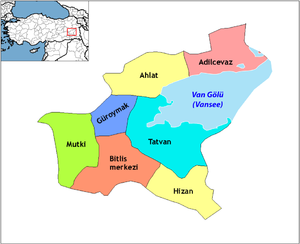 Bitlis districts (with Van Gölü).png