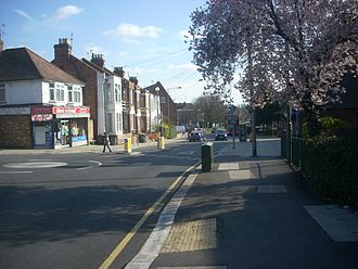 Mill Hill - Bittacy Hill looking towards Holders Hill Circus