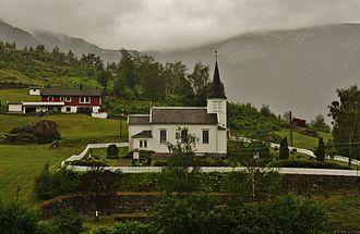 Høyanger - View of Bjordal Church